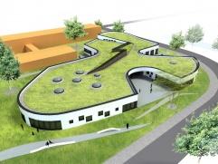 Entwurf des geplanten Gebäudes der Architekten WGK Planungsgesellschaft